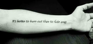 Kurt Cobain Quote Tattoo