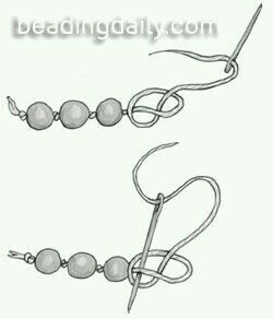 Engarzar perlas. The double knot for pearls is stronger!