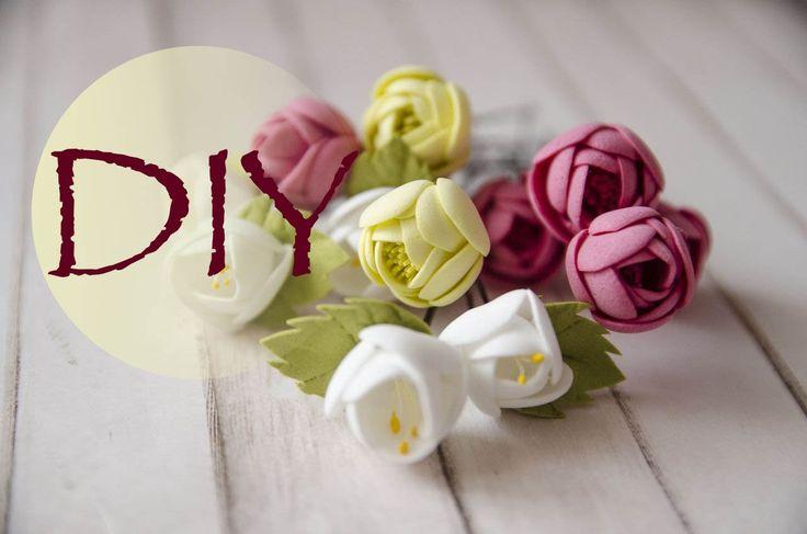 Маленькие цветочки из фоамирана /Small flowers of foamiran