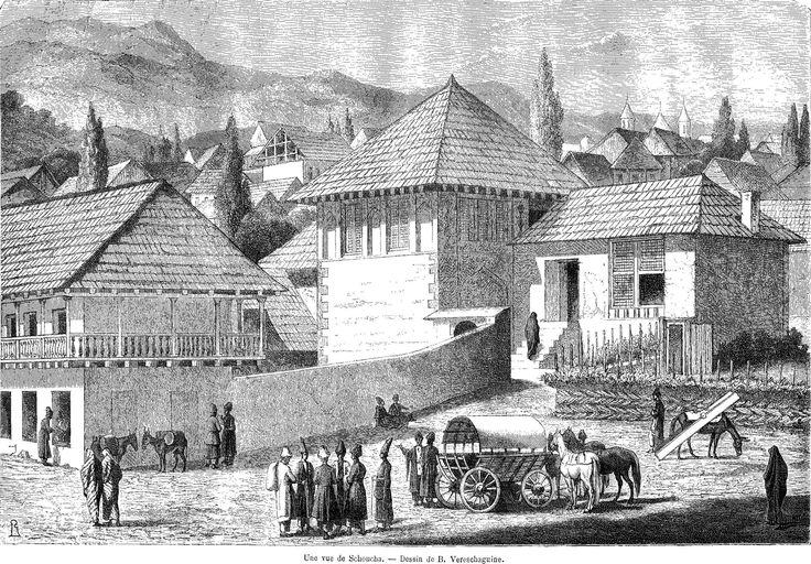 Vasily Vasilievich Vereshchagin - View of Shusha; jpg (2769×1929)
