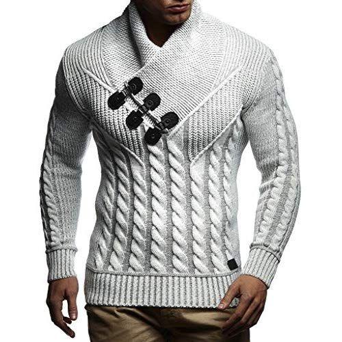 LEIF NELSON Herren Pullover Hoodie Strickpullover Sweatshirt
