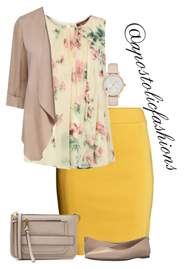 Apostolic Fashions #1657 by apostolicfashions on Polyvore featuring MaxMara, H&M, MICHAEL Michael Kors, Marc Jacobs and Kate Spade