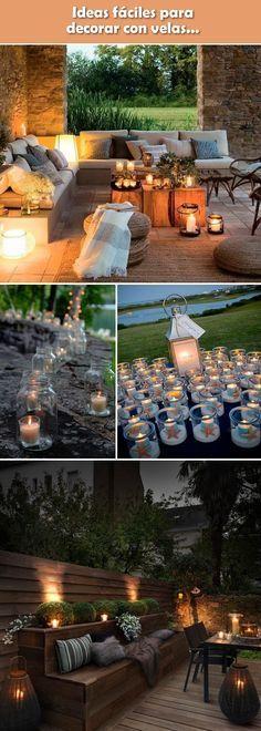 Decoración con velas. Portavelas caseros. Velas decorativas.