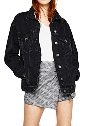 Womens Sexy Long Sleeve Lapel BF Style Candy Color Button Denim Jackets Coat 6ab981a7d