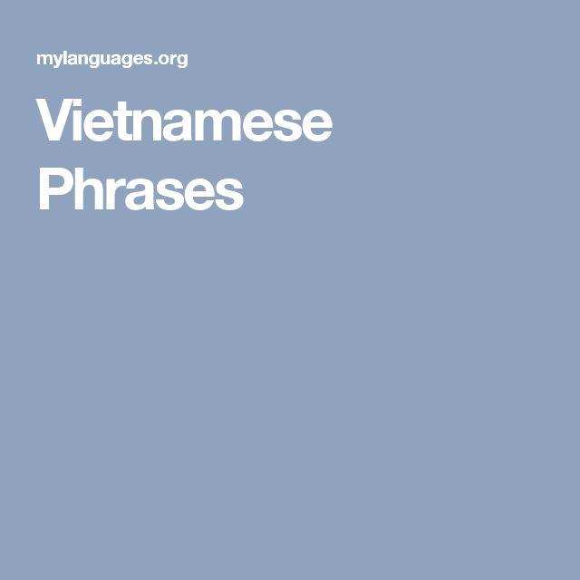 Vietnamese Phrases