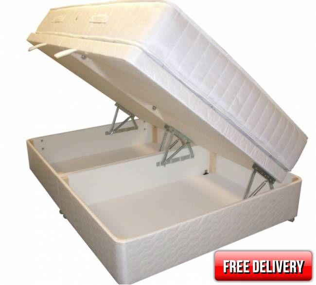 Ottoman Lift Up Storage Beds Small Double Simone Zoned Pocket Set