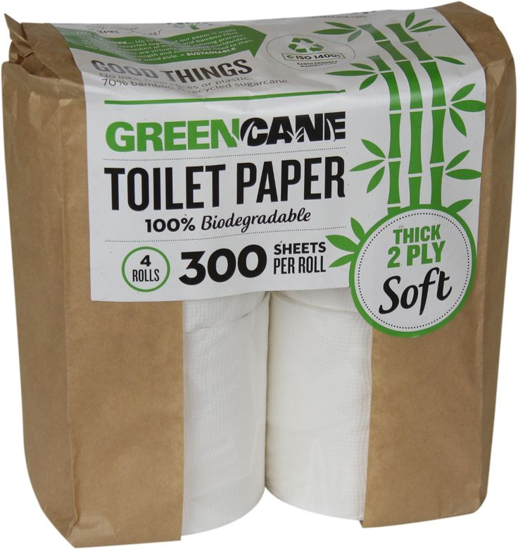 Greencane 2-ply Toilet Paper - 4 pack | Natural Collection £2.78