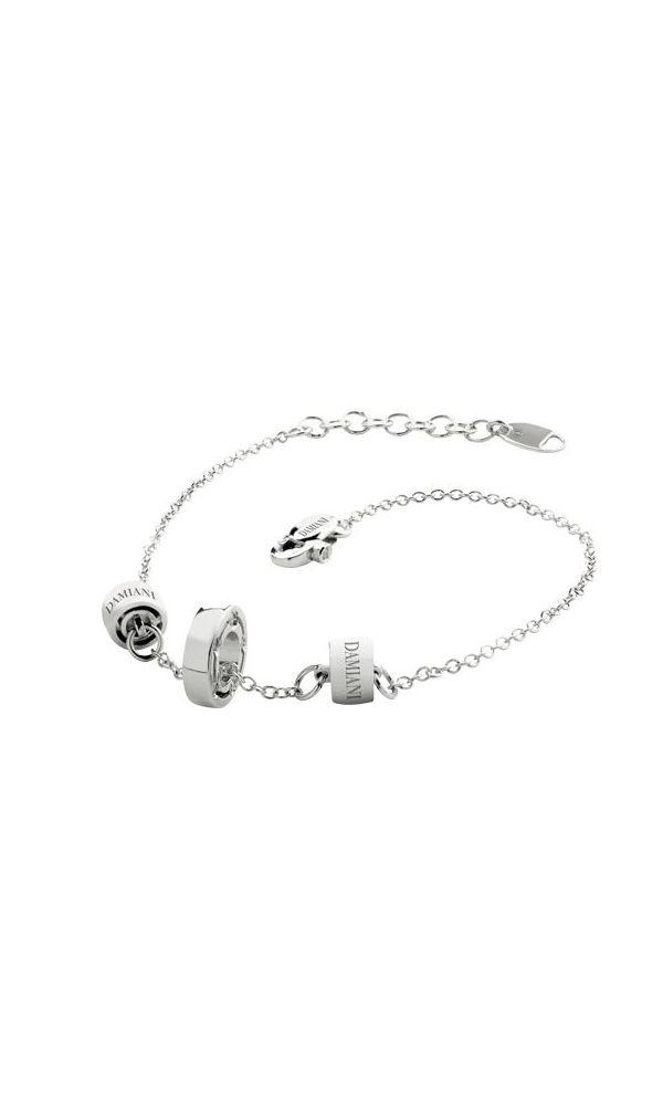 D.Side white gold and diamonds bracelet