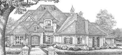 HousePlans.com 310-340: Squares, European House Plans, Dream, Exterior, Garages, Houseplan, Bedrooms, Plan 310 340, Bathroom
