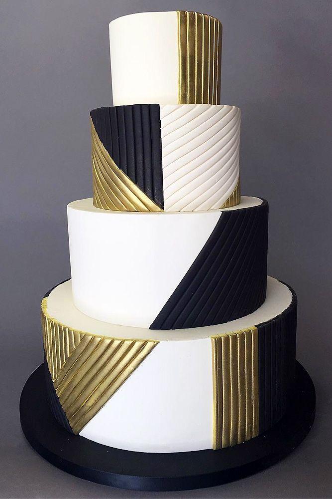 39 Black And White Wedding Cakes Ideas   – Cakes