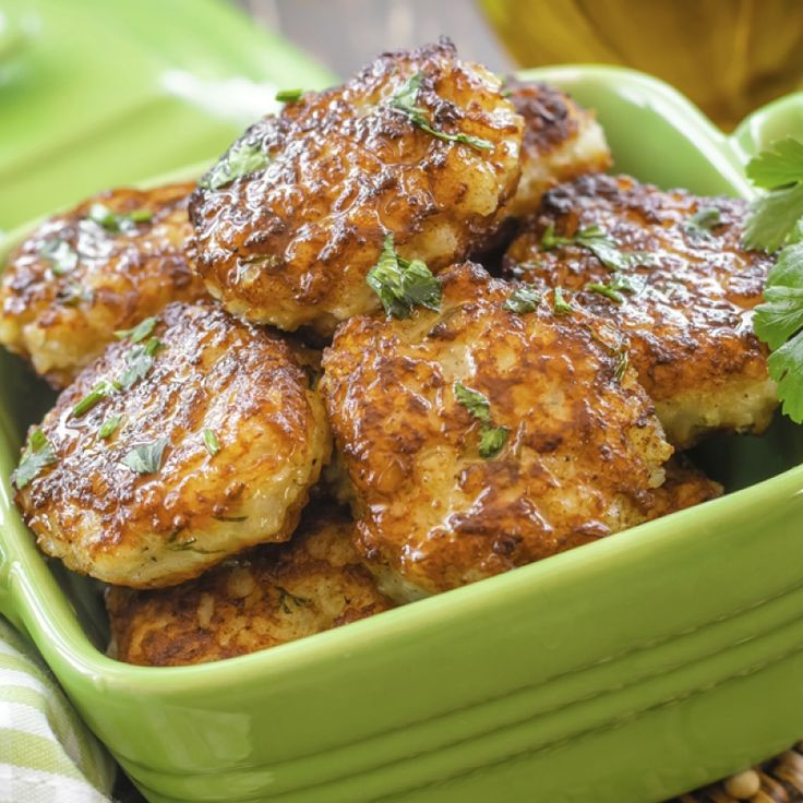 A flavorful recipe for chicken patties, great served with a salad for a healthy meal.