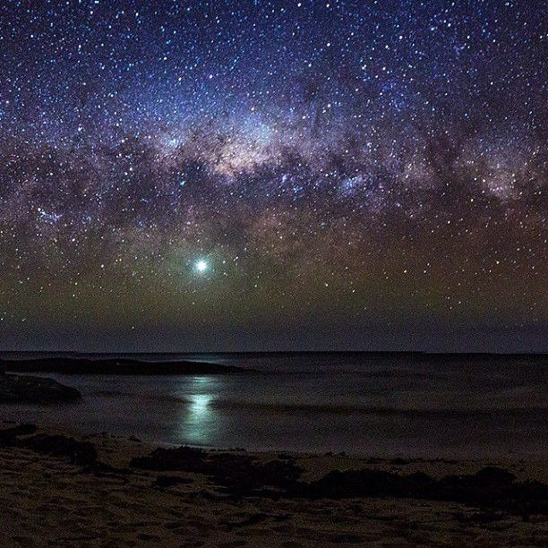 This shot of the #MilkyWay over the ocean in #MargaretRiver, WA is out of this world! Thanks for sharing with us, @Paul Pichugin! #Padgram