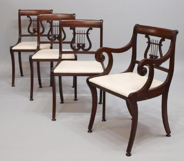 Antique Lyre Back Chairs · Duncan PhyfeWood ArtFederalRegencyFurniture IdeasDining  TableDining ...