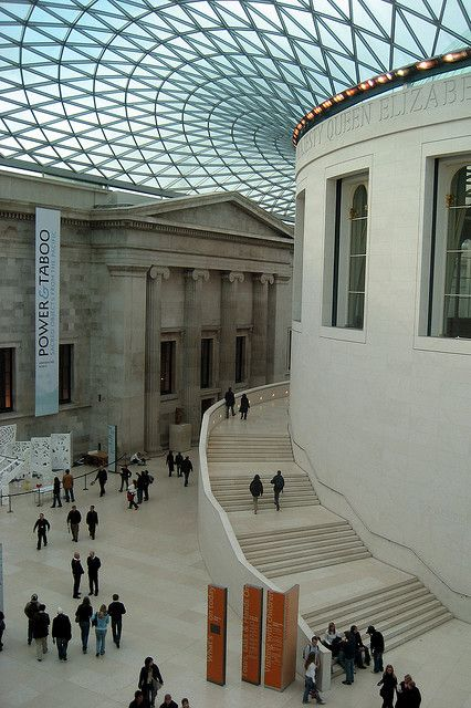 UK - London - Bloomsbury: British Museum - Great Court by wallyg, via Flickr. Queen Elizabeth II Great Court at The British Museum, London, wonderful place to visit