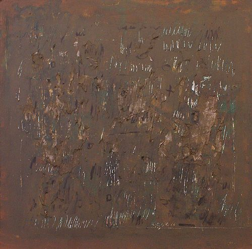 Slim painting (acrylic, paper, fiberboard)