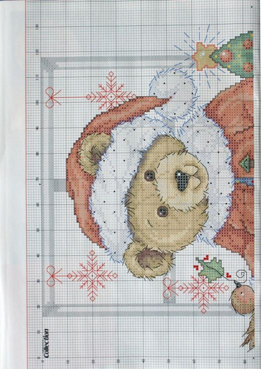 """Christmas Teddy"" ~  Saved from crostitchcollection.gallery.ru"