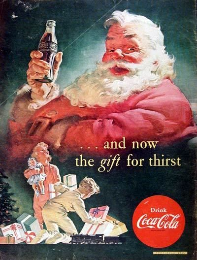 Would not be Christmas without Santa and the Coca-Cola ads!