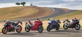 Yamaha YZF-R1 vs Suzuki GSX-R1000 vs Honda CBR1000RR vs Aprilia RSV4 RR | Cycle World