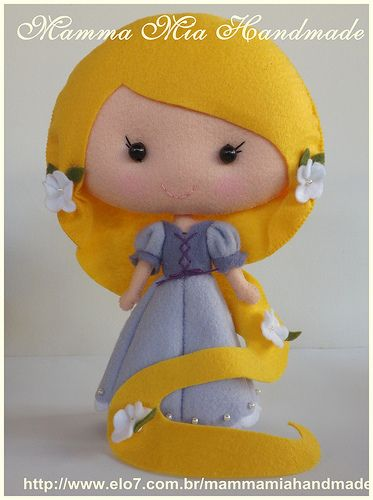 Rapunzel PDF ||| felt, fabric, doll, plush, Disney, Tangled, princess
