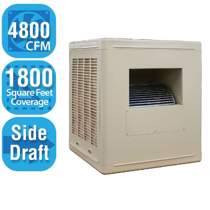 4,800 CFM Side-Draft Aspen Roof/Side Evaporative Cooler for 18 in. Ducts 1,800 sq. ft. (Motor Not Included), Whites