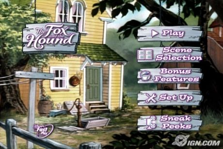 The Fox and the Hound DVD Main Menu