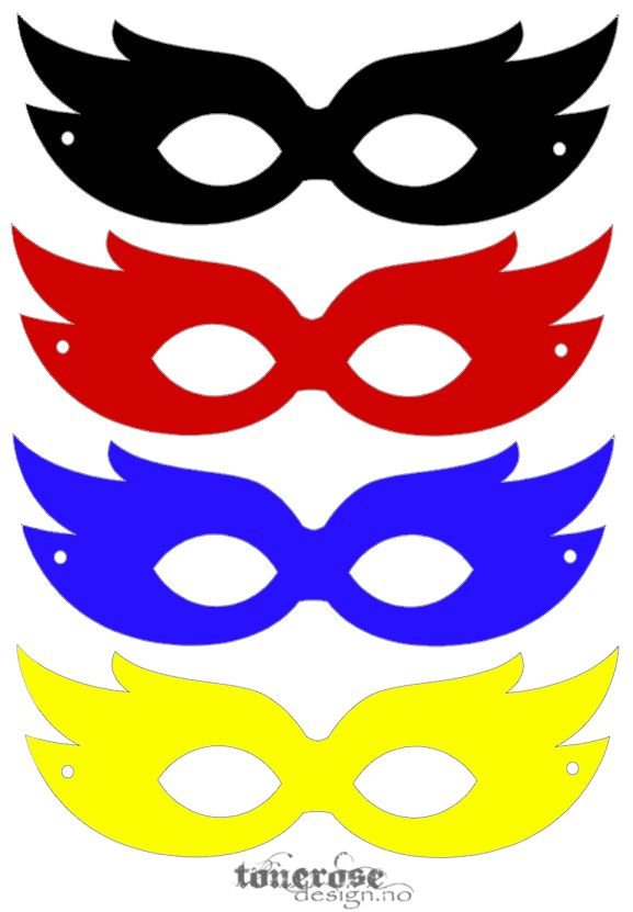 superhelt-masker farger