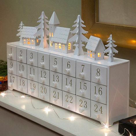 Noma Wooden light-up Christmas advent calendar- at Debenhams.com