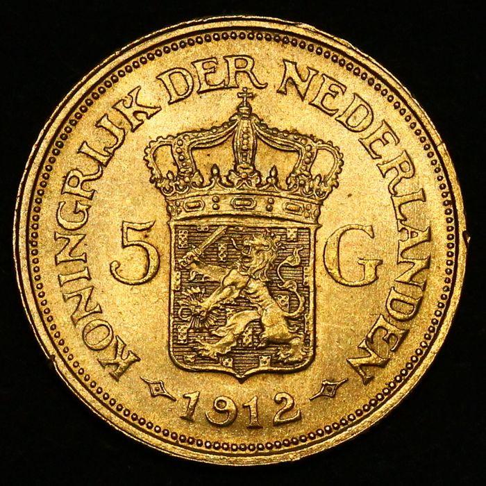 5 gulden 1912 naslag