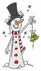 Free! Snowman embroidery design for machine embroidery
