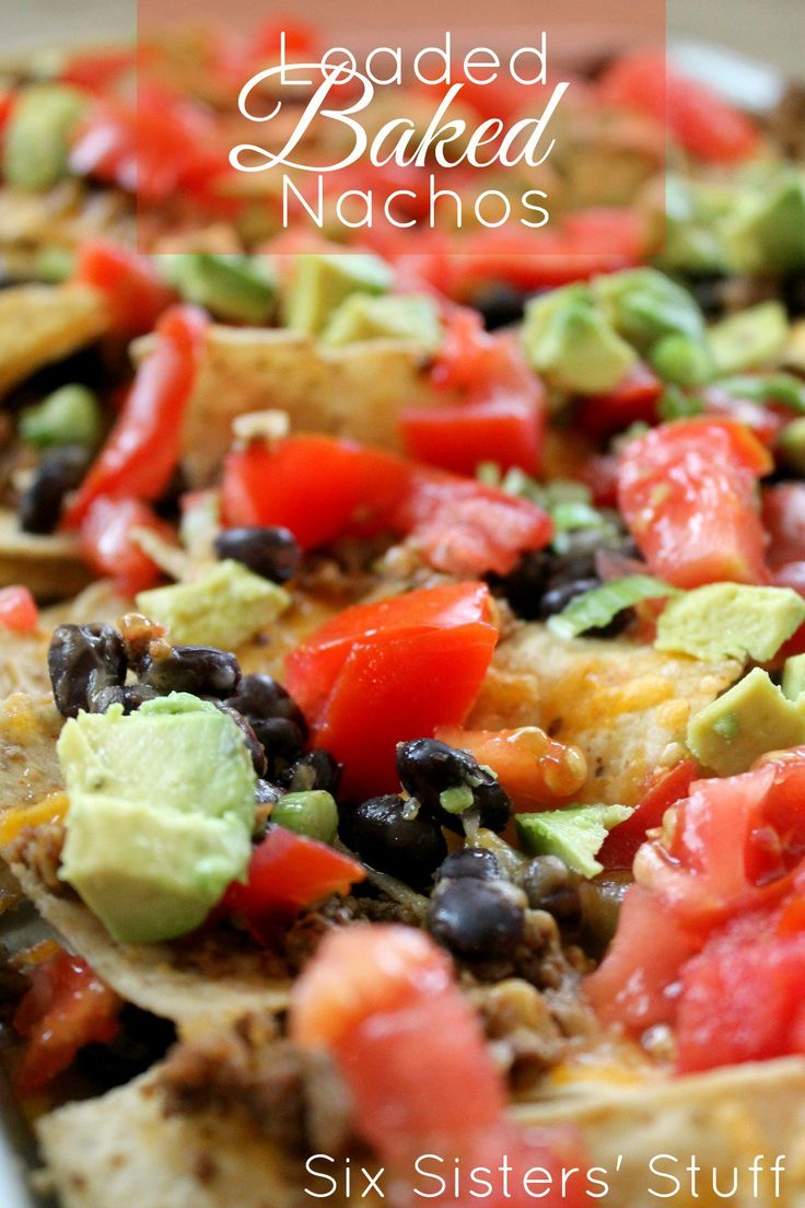 Loaded Baked Nachos | Six Sisters' Stuff