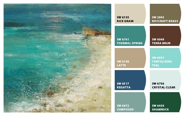 Chip it by sherwin williams home color palettes for Coastal living exterior paint colors