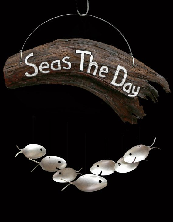Hey, I found this really awesome Etsy listing at https://www.etsy.com/listing/187875985/seas-the-day-large-driftwood-sign-and