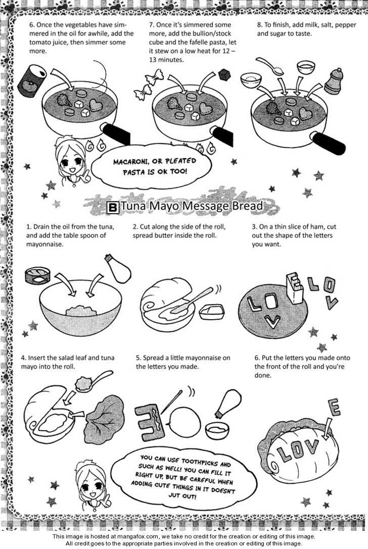 Heart Warming Tomato Soup, Tuna Mayo Message Bread recipe part 2 - Hatsukoi Lunch Box by Kodaka Nao