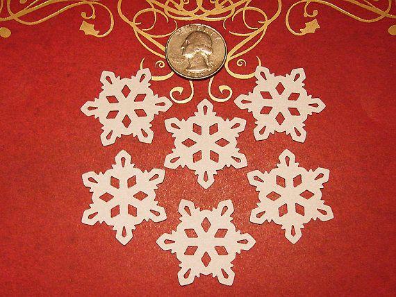 50 Winter Snowflakes EK Success Christmas Paper Punch Die Cut Embellishment