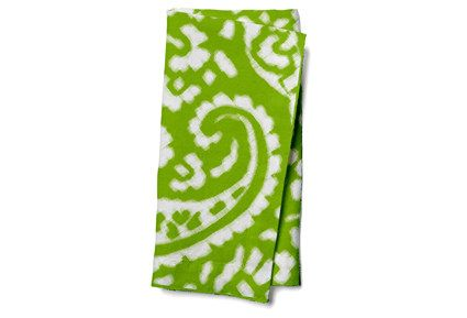 https://flic.kr/p/B3LAnD | IKAT_CACHEMIRE_green apple napkin | www.spoonflower.com/designs/4463750