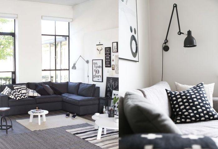 Wnętrza Zewnętrza - blog wnętrzarski: Lampa z biurka wędruje na ścianę