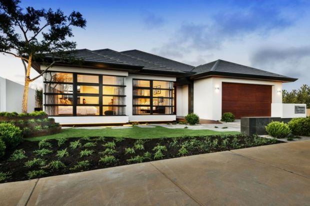 La façade de la maison zen rappelle l'architecture japonaise