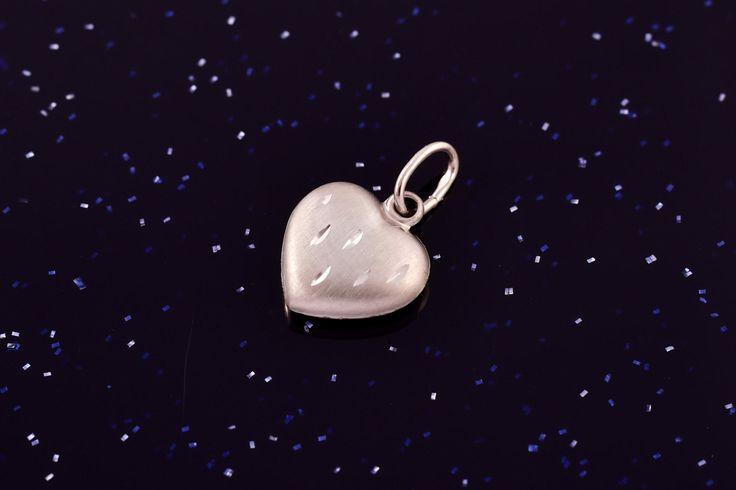 Zlatý přívěsek srdce bílé P044,14kt,0,35g