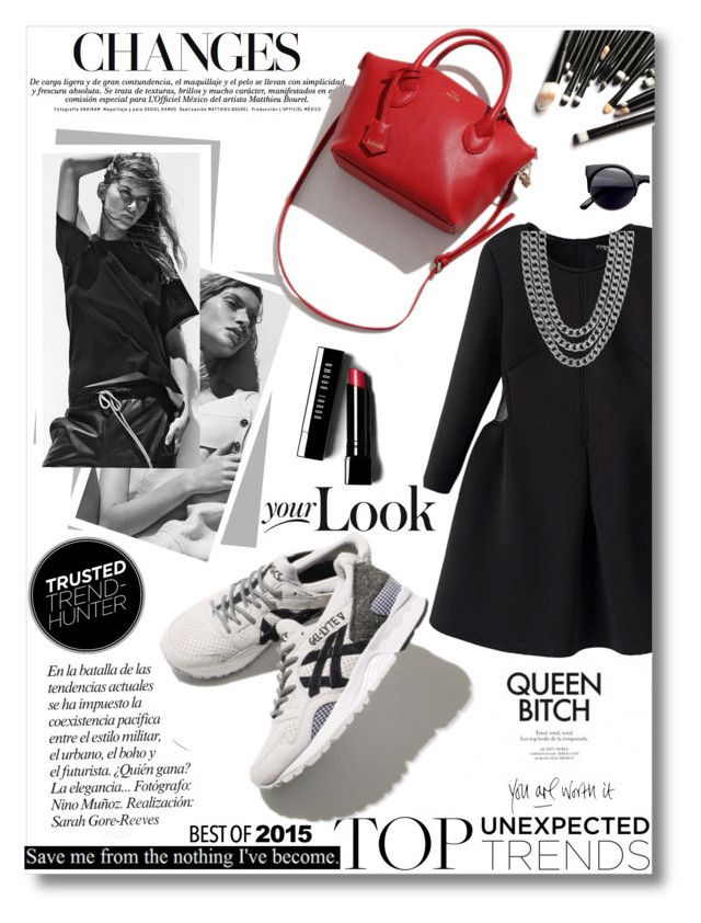 """""""Sporty Chic trend"""" by tsungie ❤ liked on Polyvore featuring Bassike, Asics, Bobbi Brown Cosmetics and Henri Bendel"""