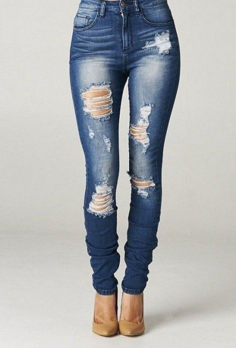 DIY Ripped Jeans: How to make Ripped Jeans Tutorial and Ideas - Diy Food Garden & Craft Ideas