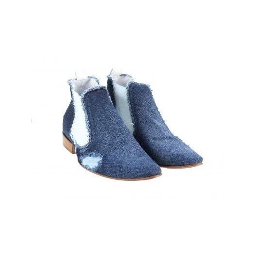 Pánske kožené topánky modré PT001 - manozo.hu