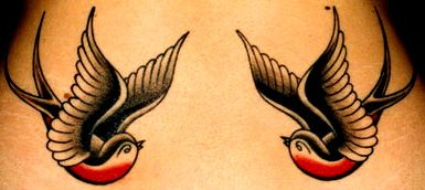I prefer the colour of these swallows...with a banner between their beaks saying Jack & Molly going across a love heart