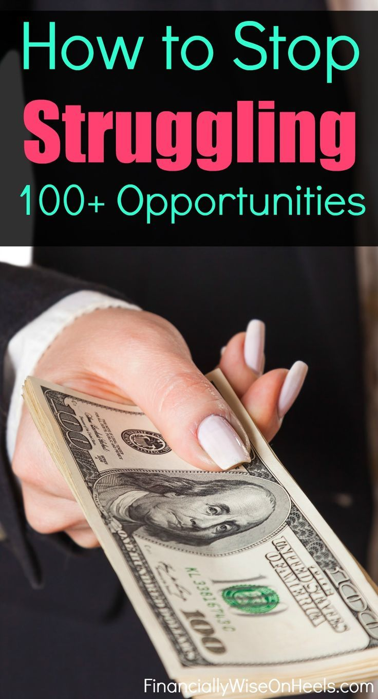 Are you still struggling with your finances? Do you feel you don't make enough to live the way you want to live? Turn your frustrations into new opportunities. Use your gifts and talents to stop struggling for good. Only you can make a change. Check out those 100+ opportunities that help you out.    http://www.financiallywiseonheels.com/extra-ways-to-make-money-from-home/