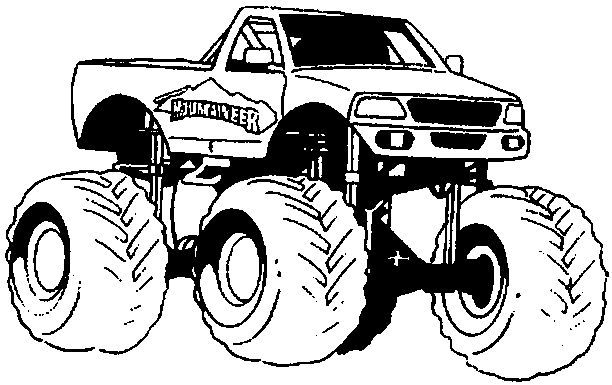 Mud Truck Coloring Pages For Kids Www Minimonstertr Monster
