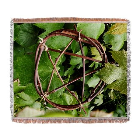 Grapevine Pentacle Woven Blanket via CafePress.