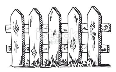 fence drawing easy. brilliant picket fence drawing on idea easy