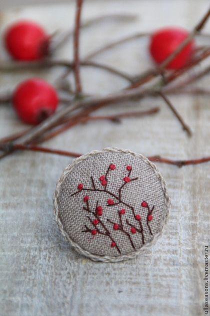 """Брошь """"Осенние ягоды"""". Handmade."""