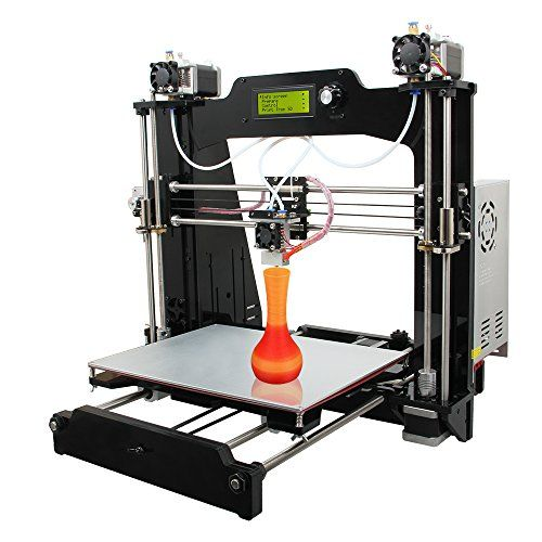 WER® Prusa I3 M201 3D printer Self-assembly DIY Kit 2-in-1-out Hotend LCD Controller Mix Color Desktop Computer DIY Printer Support PLA ABS Filament