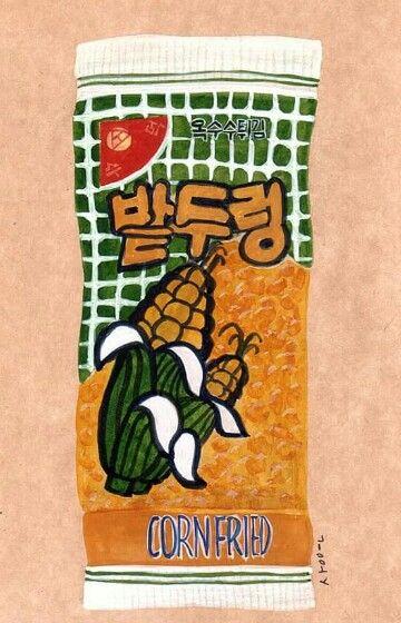 corn fried, Made in Korea
