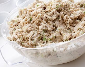 Ingredients: 24 oz can of tuna in water [7g*24] 1/2 cup pickle juice 1 ground celery stick 2 teaspoons mustard 1 ounce 0% Greek yogurt. [3g] Directions: Finely grate celery until mushy. Drain water...